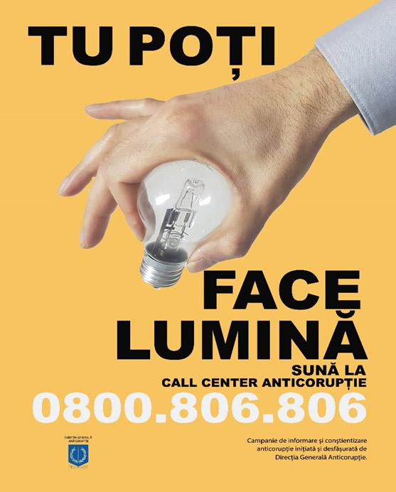 O campanie anticorupție pentru conștientizarea de către personalul M.A.I. și cetățeni a cauzelor și consecințelor implicării în fapte de corupție