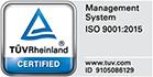 Certificare TUV ISO 9001:2015